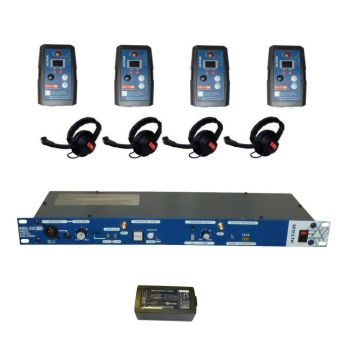 Altair HD Wireless Beltpack Intercom system 4 way single channel kit extreme beltpacks (max 4)