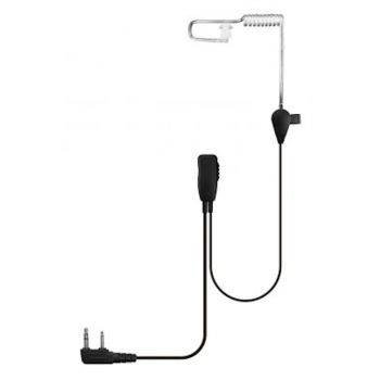 Value XT460 1 wire headset with PTT Mic and Earpiece (notched 2 pin connector)