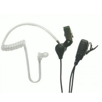 Covert style 1 wire Acoustic tube Earpiece with mic for UltraPAK
