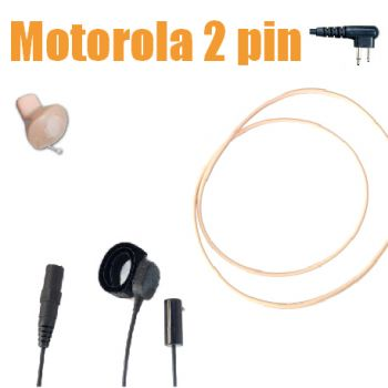 TC4 Motorola 2pin Beige ICM40 Wireless Earpiece kit