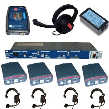 Altair 4 x Wired EM201 and 1 x Wireless WBP200HD Beltpack Intercom system