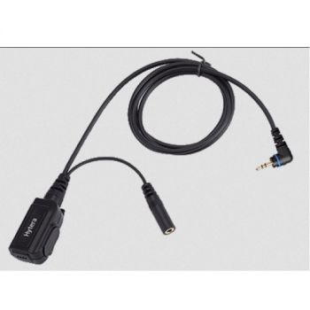 Hytera 1 wire headset with 3.5mm listen jack socket