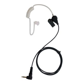 IFB radio earpiece with straight lead and right angle 3.5 mm mono jack