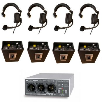 TSS1 Wired Theatre and College Intercom Starter Communication System 1