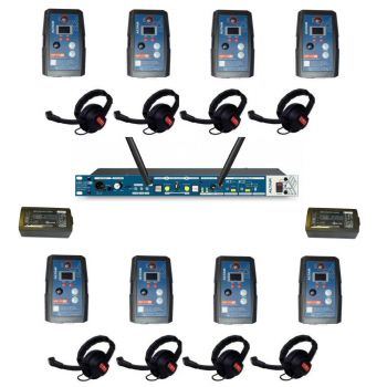 Altair HD Wireless Beltpack Intercom system 8 way single channel kit extreme beltpacks