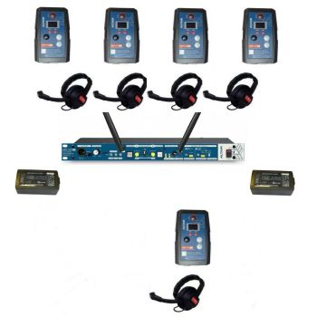 Altair HD Wireless Beltpack Intercom system 5 way single channel kit extreme beltpacks