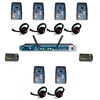 Altair HD Wireless Beltpack Intercom system 6 way single channel kit extreme beltpacks