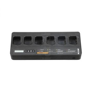 Impres Desktop charger with 6 slots for MTP3000 and MTP6000 series (UK)