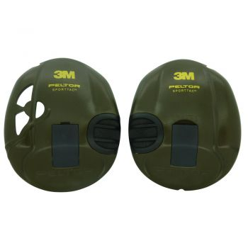Peltor SportTac Green Clip on Sides