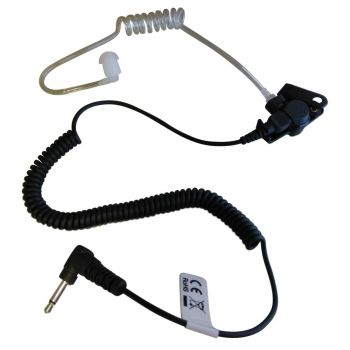 IFB radio and iPhone earpiece with kevlar transducer lead and 3.5 mm mono jack