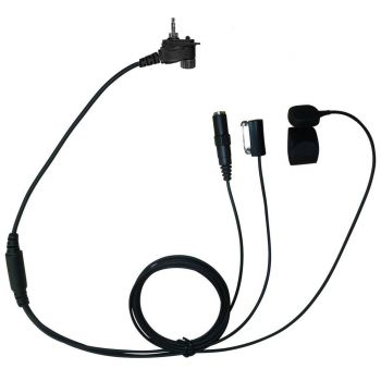 TC4 Motorola MTH800 3 wire kevlar surveillance headset 3.5mm socket