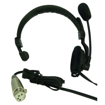 ASL HS1D Lightweight Headset for Tecpro Clearcom belt packs