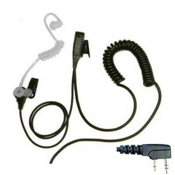 BG Kenwood 2 pin and Baofeng UV-5R 1 Wire covert acoustic tube earpiece and PTT mic