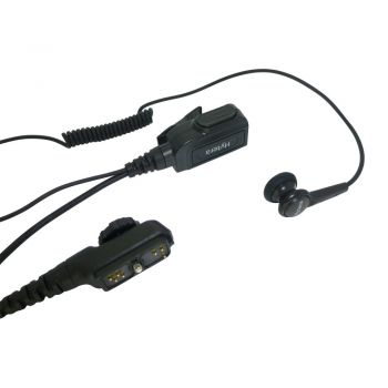 Hytera ESN12 1 wire Earbud earpiece with PTT Microphone