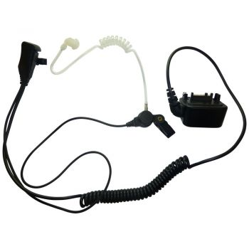 BG MTH800 1 Wire acoustic tube earpiece and PTT mic with Bottom connector