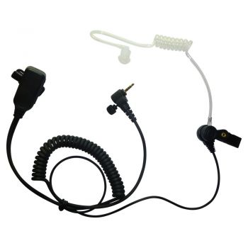 BG Sepura SRH3500 SRH3800 SRH3900 Kevlar 1 wire Earpiece and PTT mic
