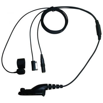 TC4 Motorola MTP850S DP3400 DP4400 3-wire kevlar surveillance headset 3.5mm socket