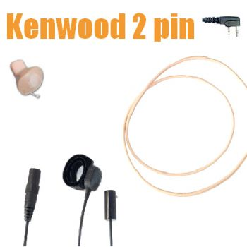 TC4 Wireless Earpiece kit for Kenwood 2pin radios - ICM40  BEIGE