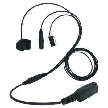 TC4 Sepura SC20 STP8038 and STP9038 3 wire kevlar surveillance headset 3.5mm socket