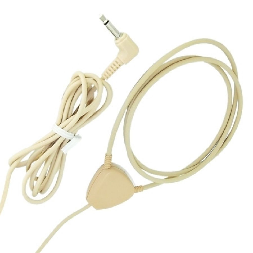Wireless earpiece induction neck loop -3.5mm plug Beige