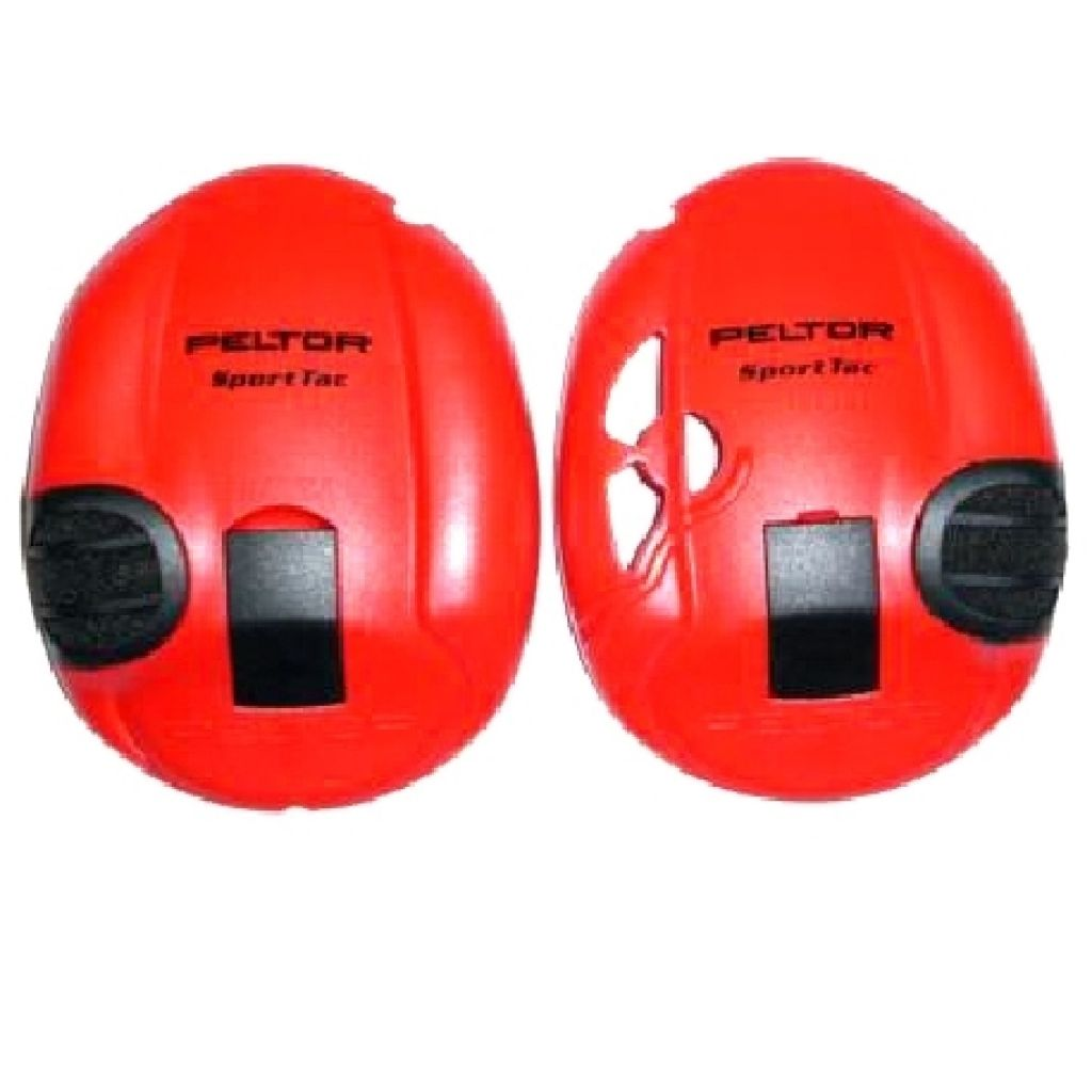 Peltor SportTac Red Clip on Sides (Pair)