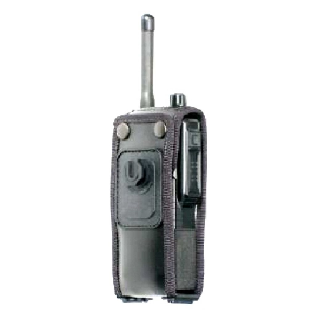 Sepura STP8000 STP9000 Soft Leather case with Klick fast Stud (top loading radio)
