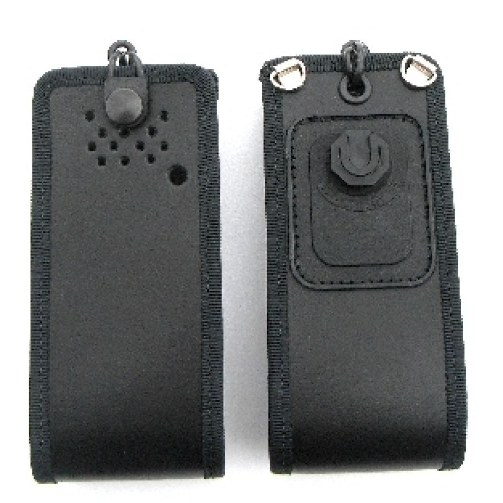 Police style Klickfast leather case for Motorola DP3400 and DP3401