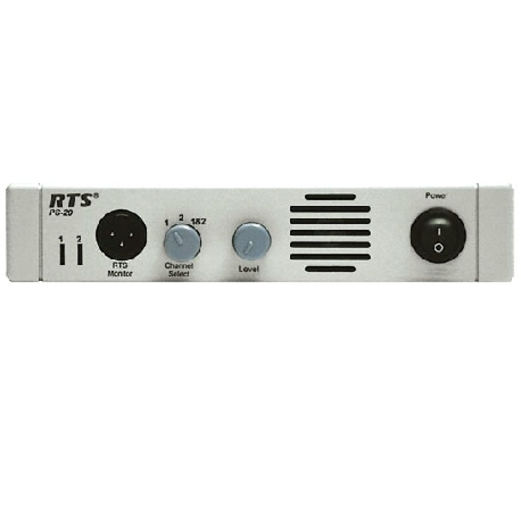 Telex PS20 RTS Intercom Power Supply capacity of 15 to 20 stations