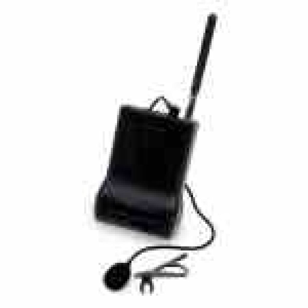 Wireless Tour Guide Transmitter with Lavalier Microphone