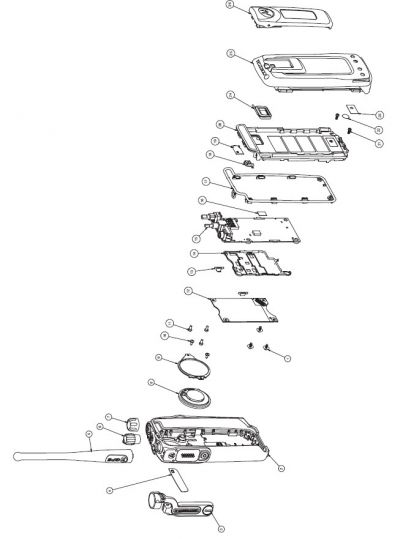 Motorola DP3400 DP3600 DP4400 DP4800 Accessories Exploded Parts Diagram