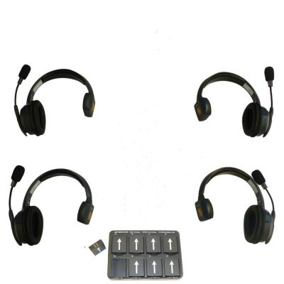 Eartec UltraLITE Theatre Intercom Wireless Comms System 4 Users - EARTEC-4SS - Showcomms