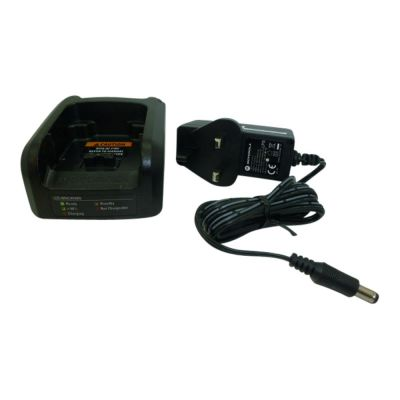 Motorola MTP6650 simultaneous battery and radio charger with UK plug - PMLN6495A - Showcomms