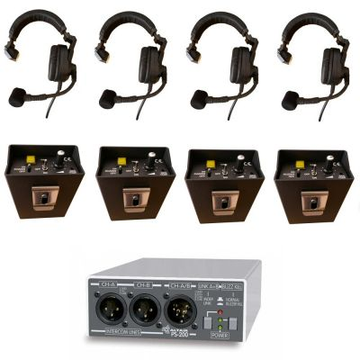 Wired Theatre Stage Technicians Intercom Value Starter System for 4 users - TSS-1 - Showcomms