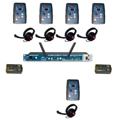 Altair HD 1.9GHz Digital Wireless Intercom with 5 wireless single channel extreme beltpacks - ALT-5WAY-KIT-XT - Showcomms