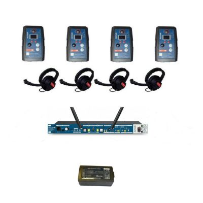 Altair HD 1.9GHz Digital Wireless Intercom with 4 wireless single channel extreme beltpacks (max 8) - ALT-4WAY-KIT-XT8 - Showcomms