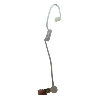Acoustic tube earpiece & collar clip for TV Presenter & radio headsets - BG-TUBE - Showcomms