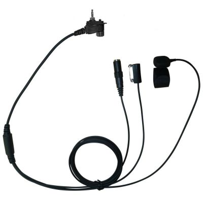 TC4 Motorola MTH800 3 wire kevlar surveillance headset 3.5mm socket - TC4-FS-JACK - Showcomms