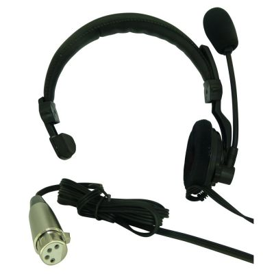 Low cost ASL HS1D Theatre intercom headset with XLR4F - ASL-HS1D - Showcomms