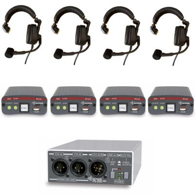 TSS2 Theatre Intercom Starter Communication System Value 4 way kit - TSS-2 - Showcomms
