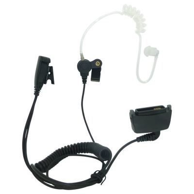 Airbus THR880i curly tube earpiece with microphone. Kevlar cable - BG-THR - Showcomms