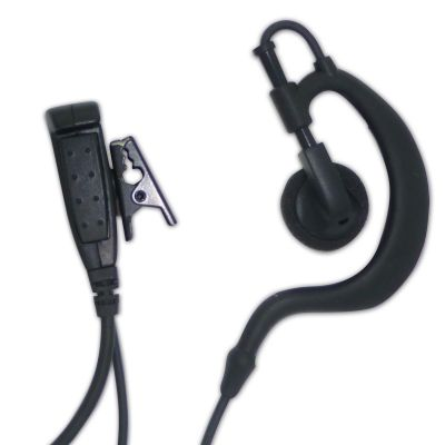 Motorola MTP850S MTP6550 Tetra 1 wire headset Ear Hanger Speaker - MSG-1W-M7 - Showcomms