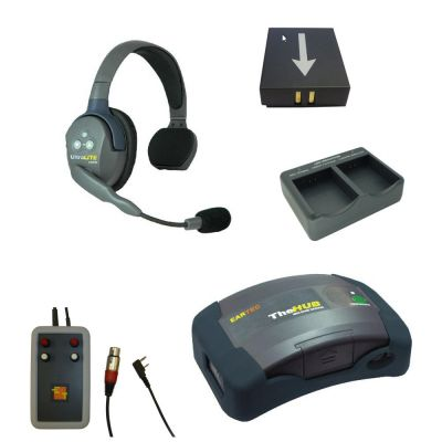 Eartec Ultralite single Wireless Headset kit for interfacing with Tecpro wired comms - EARTEC-HD-HUB1SS-INT - Showcomms