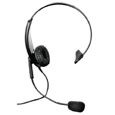 Single sided lightweight headset with Motorola 2 pin radio connector - LWHS-DP1400 - Showcomms