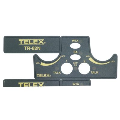 Telex TR82-N wireless beltpack Escutcheon Label Set - F01U201153 - Showcomms