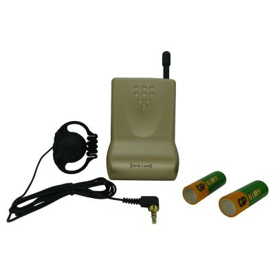 Wireless Tour Guide Receiver with headset earpiece - WTG-RX - Showcomms