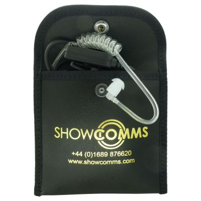 EarPiece aand 1 wire headset Protective case made from High quality genuine leather - HS-Pouch - Showcomms